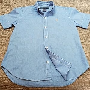 Ralph Lauren Slim Fit Short Sleeve Oxford